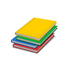realistic detailed 3d color blank hardcover books vector image