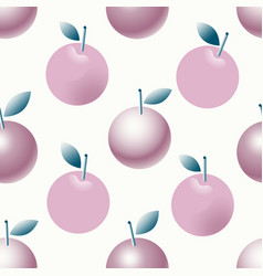 seamlesss pattern with apples and leaves vector image