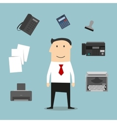 Secretary or manager profession icons vector image