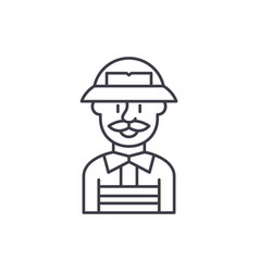 service engineer line icon concept service vector image