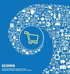 Shopping cart sign symbol Nice set of beautiful vector image