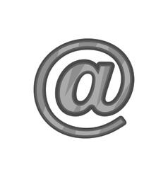 Sign e-mail icon black monochrome style vector
