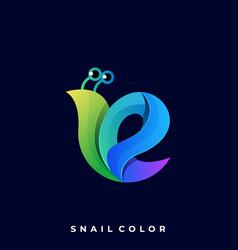 snail template vector image