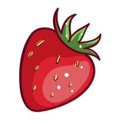 strawberry red berry icon sweet healthy freshness vector image