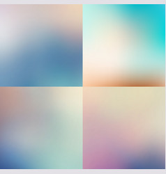 sweet color blurred background set pastel color vector image