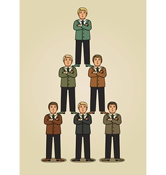 Team work in business pyramid vector