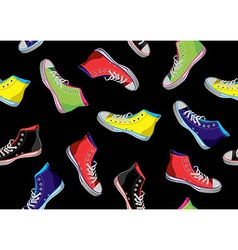 Teenager sneakers pattern vector