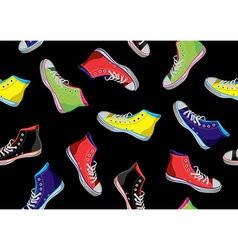 Teenager sneakers pattern vector