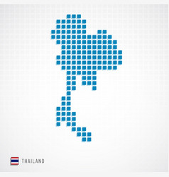 thailand map and flag icon vector image