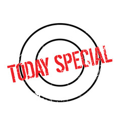 Today special rubber stamp vector
