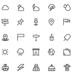 Tourism Line Icons 4 vector