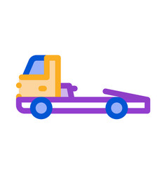 Tow cargo truck icon outline vector