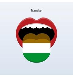 Transkei language abstract human tongue vector