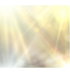 transparent sunlight flare light effect vector image