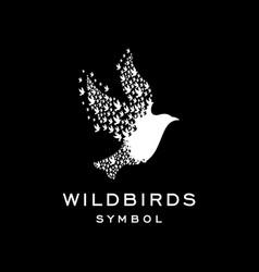 Unique bird concept template vector