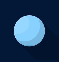 uranus planet icon flat style vector image