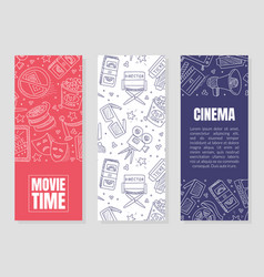 vertical template flyers for cinema vector image