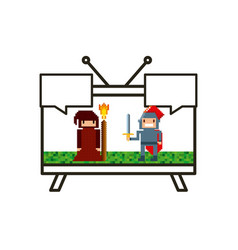 Videogame and tv design vector