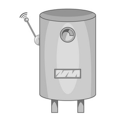 Water heater with wi fi connection icon monochrome vector