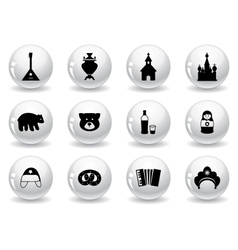 Web buttons russian icons vector