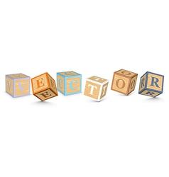 Word written with alphabet blocks vector image