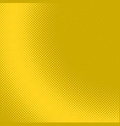 yellow geometric halftone dot pattern background vector image