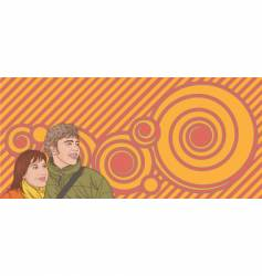 Young couple vector