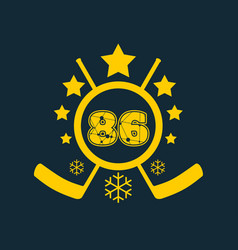 86 number vector image