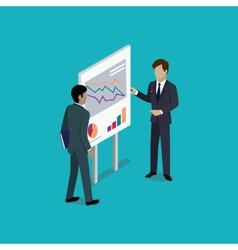 Business Report Isometric vector image vector image
