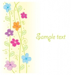 cute floral card vector illustration vector image vector image