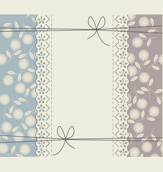elegant lace frame with chamomile flowers vector image vector image