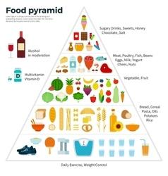 Food Guide Pyramid Healthy Eating vector image vector image