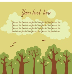 Green deciduous forest vector image