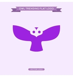 Logo owls in flat style vector image vector image