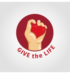 Save a life and give blood vector