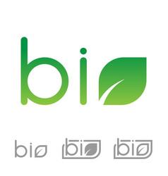 set of bio logo vector image vector image