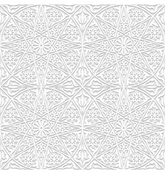 Set of seamless patterns with traditional ornament vector image