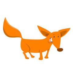 fox cartoon animal character vector image vector image