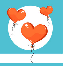 red heart-shaped balloons vector image
