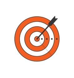Target arrow icon concept of goal aim vector image