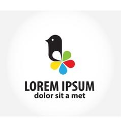 bird logo logo design template for printing vector image vector image