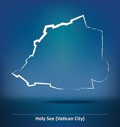 Doodle Map of Vatican vector image