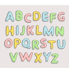 Hand drawn baby alphabet Letters vector image