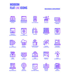 modern flat line icons design-web design and vector image vector image