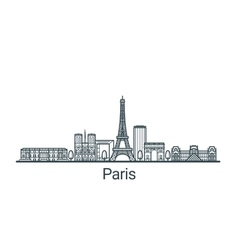 Outline Paris banner vector image