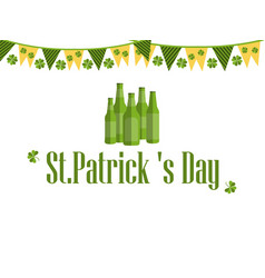 patricks day festive background with garland vector image vector image