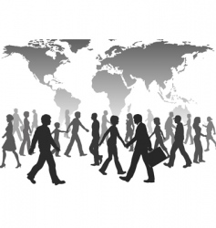 population silhouettes vector image
