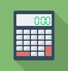 Calculator icon Modern Flat style with a long vector image vector image