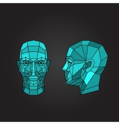 Face recognition and scanning - biometric security vector image
