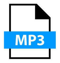file name extension mp3 type vector image vector image